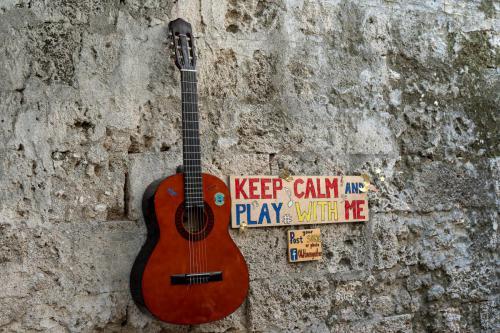 Gitarre in Rhodos-Stadt